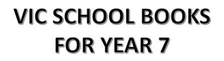 分類圖片 VIC School Books for Year 7