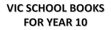 分類圖片 VIC School Books for Year 10
