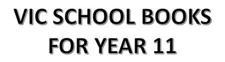 分類圖片 VIC School Books for Year 11