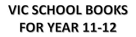分類圖片 VIC School books for Year 11-12