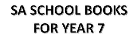 分类图片 SA School Books for Year 7