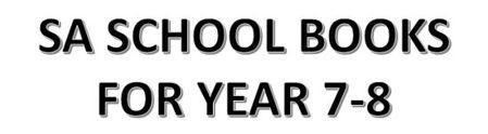 分类图片 SA School Books for Year 7-8