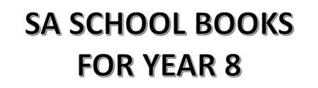 分类图片 SA School Books for Year 8