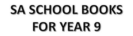 分类图片 SA School Books for Year 9