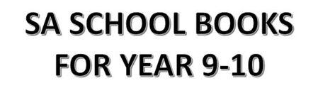 分类图片 SA School Books for Year 9-10