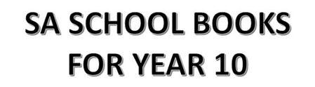 分类图片 SA School Books for Year 10