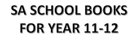 分类图片 SA School Books for Year 11-12