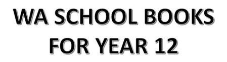 分类图片 WA School Books for Year 12