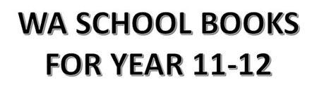 分类图片 WA School Books for Year 11-12