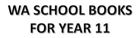 分类图片 WA School Books for Year 11
