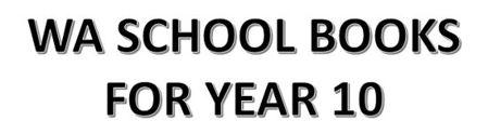 分类图片 WA School Books for Year 10