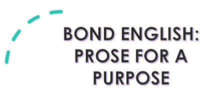 Picture of BOND English: Prose for a purpose