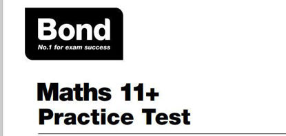 Picture of Bond Maths 11+ Practice Test (AGE: 9-11)