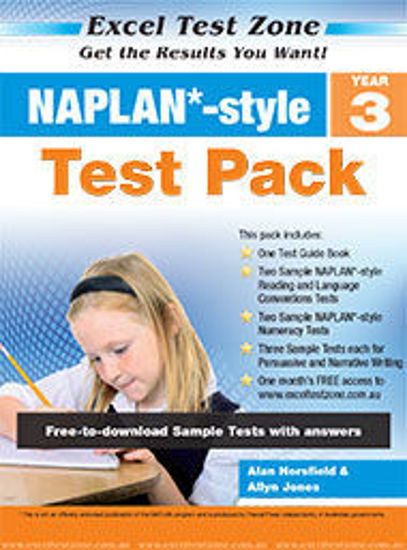 Picture of EXCEL TEST ZONE NAPLAN*-STYLE TEST PACK YEAR 3