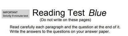 图片 Reading Test Blue