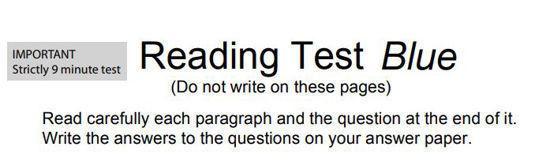 圖片 Reading Test Blue