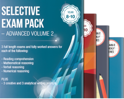 Picture of Victorian Selective School Exam Pack for Year 9