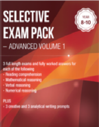 Picture of Selective Exam Pack - Advanced Volume 1