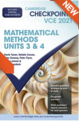 图片 Cambridge Checkpoints VCE 2021 Mathematical Methods Units 3&4 (print)