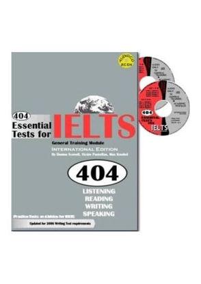 图片 404 Essential Tests For IELTS – General Training Module (Book with CDs)
