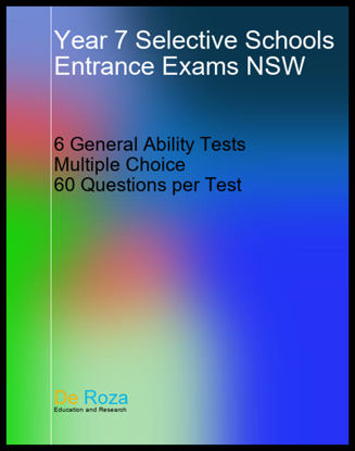 NSW Set of 6 General Ability Tests - Yr 6 for Yr 7 Entrance