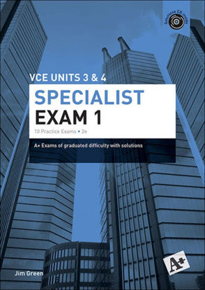 图片 A+ Specialist Mathematics Exam 1 VCE Units 3 & 4