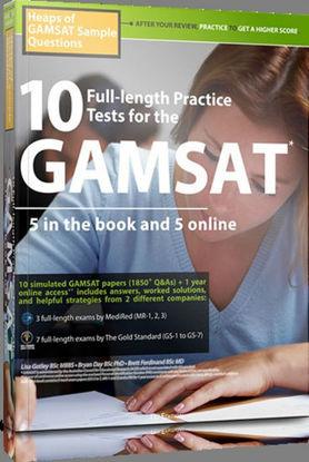 图片 10 Full-length Practice Tests for the GAMSAT: 5 in the Book and 5 Online