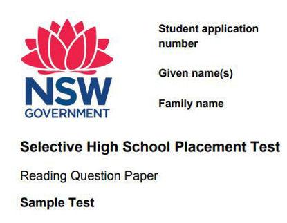 图片 READING SAMPLE TESTS: NSW SELECTIVE SCHOOL TEST FOR 2022