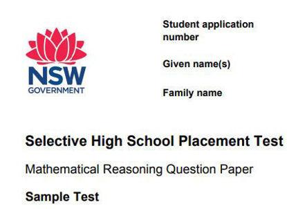 图片 Mathematical Reasoning Test SAMPLE TESTS: NSW SELECTIVE SCHOOL TEST FOR 2022