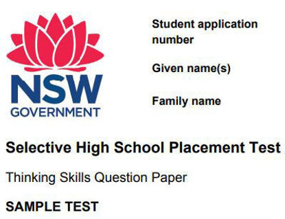 图片 THINKING SKILLLS SAMPLE TESTS: NSW SELECTIVE SCHOOL TEST FOR 2022
