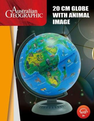 图片 20CM GLOBE WITH ANIMALS AUST GEOGRAPHIC