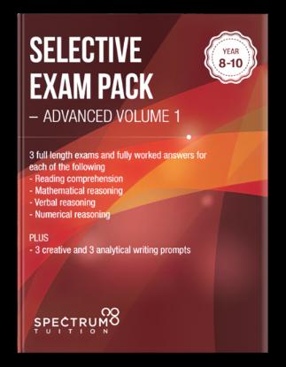 图片 Selective Exam Pack - Advanced Volume 1
