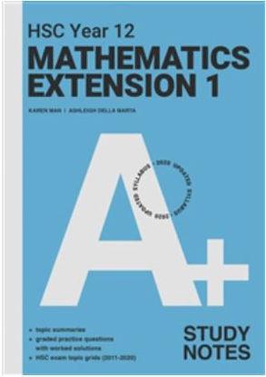 图片 A+ HSC Year 12 Mathematics Extension 1 Study Notes