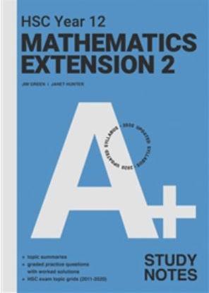 图片 A+ HSC Year 12 Mathematics Extension 2 Study Notes