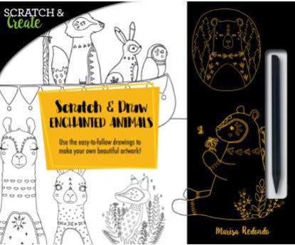 图片 Scratch & Draw Enchanted Animals Use the easy-to-follow drawings to make your own beautiful artwork!