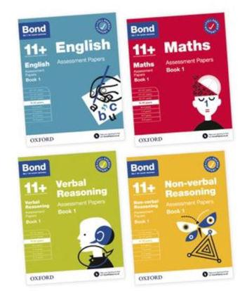 Picture of Bond 11+ English Maths Verbal Reasoning Non Verbal Reasoning 9-10 Yrs Bundle