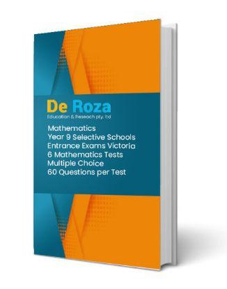 图片 VIC Set of 6 Mathematics Tests - Yr 8 for Yr 9 Selective School Entrance