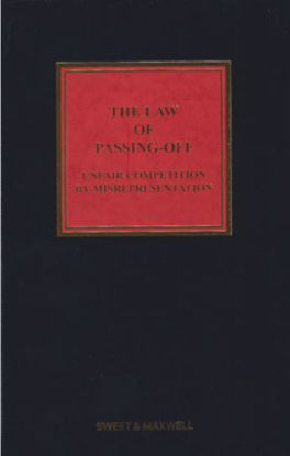 Picture of *ZZ*Law of Passing Off by Misrepresentation 5